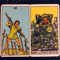 Leo: 7 of Wands - August 12-22 & The King of Coins (August 12-September 11)