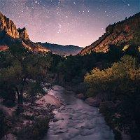 Gentle Stream at Night