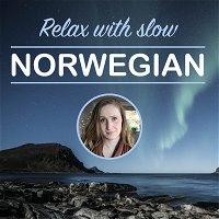 ASMR rainy day in jazz café, reading SLOW Norwegian: Skattkista 1 - introduksjon.