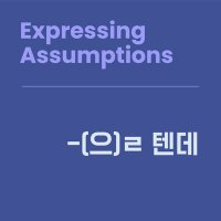 Level 10 Lesson 11 / Expressing Assumptions / -(으)ㄹ 텐데